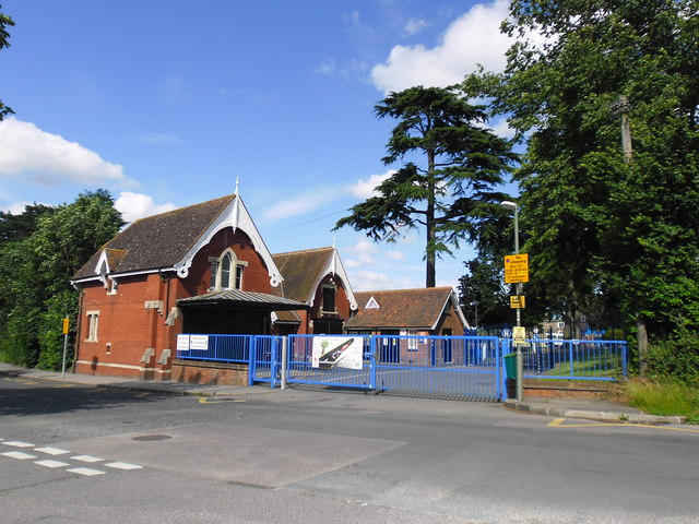 Rear entry to Hayes School