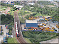 TQ3980 : DLR west of Silvertown by Stephen Craven