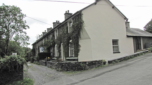 Row of terraced cottages in Croesor