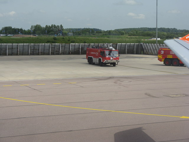 Fire engine at London Luton Airport