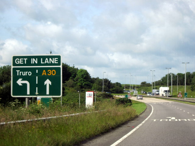 A30, Get In Lane For Truro