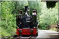 SH6706 : No.7 'Tom Rolt' Arrives at Abergynolwyn Station, Gwynedd by Peter Trimming