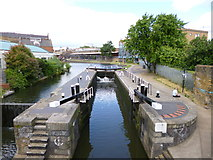 TQ2884 : Camden Town, canal lock by Mike Faherty