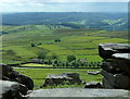 SK2483 : Stanage Edge rocks with views by Andrew Hill