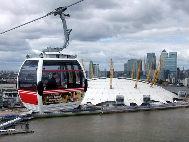 Car Transport Cost >> Emirates Air Line cable car passing the... © PAUL FARMER ...