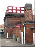 SK4175 : Water tank and toilet block at Barrow Hill by Dave Pickersgill