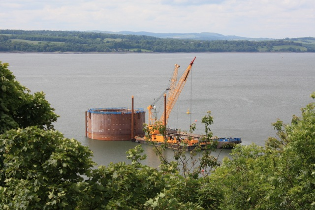 Foundation works for Forth Replacement Crossing, North Tower