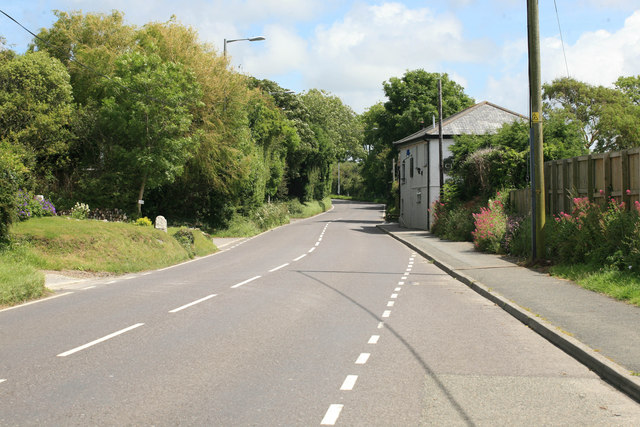 The A392 at Quintrell Downs