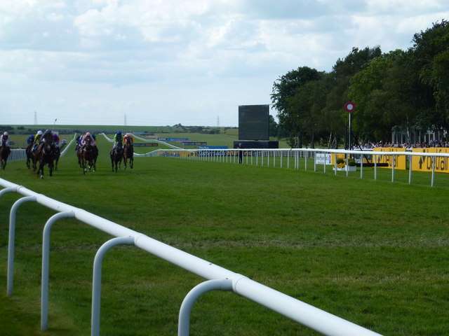 The July Course, Newmarket - Horses pass the winning post