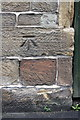 NY5045 : Benchmark on #5 The Barn, Front Street by Roger Templeman