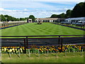 TL6161 : The July Course, Newmarket - The parade ring at the end of the day by Richard Humphrey