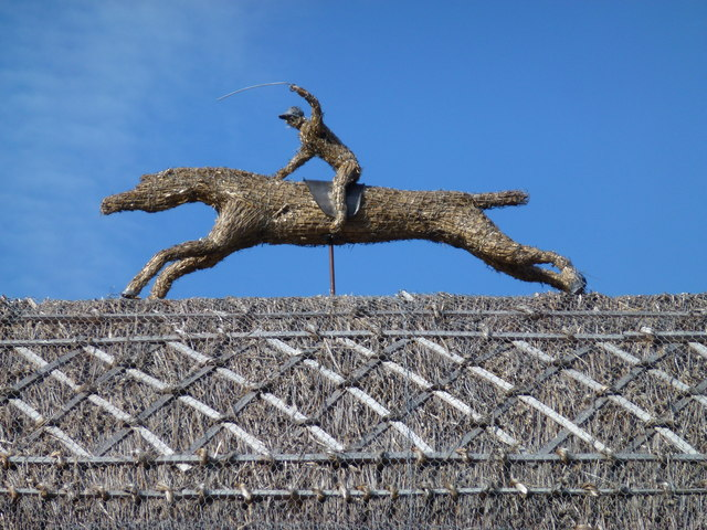 The July Course, Newmarket - Horse and jockey on the roof