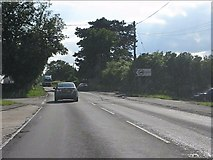SP7711 : A418 at Upton Road junction by Peter Whatley