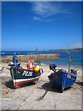 SW3526 : Fishing boats in the harbour at Sennen Cove by Rod Allday