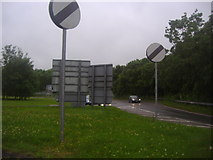 SU4828 : Roundabout on Bar End Road at the Winchester bypass by David Howard