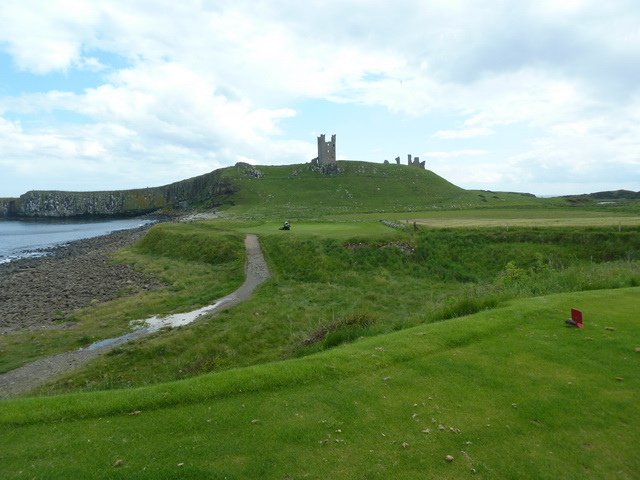 Dunstanburgh Golf Course at the 13th tee