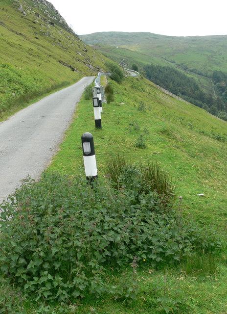Narrow road at Craig yr Ogof