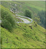 SH9124 : Mountain road at Craig yr Ogof by Mat Fascione