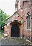 TQ3068 : St Philip, Beech Road, Norbury - Doorway by John Salmon