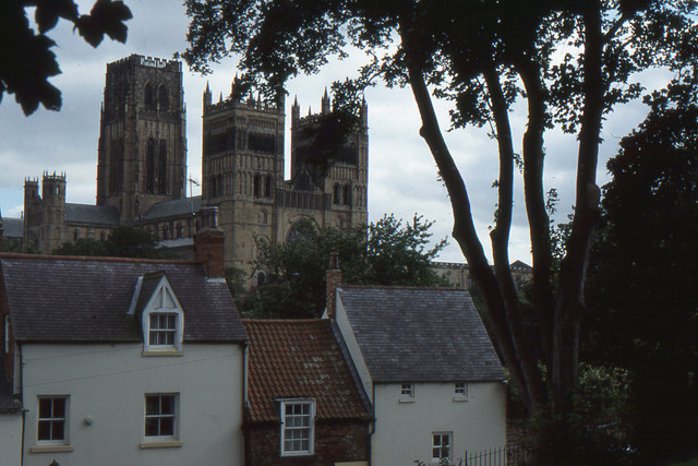 Durham cathedral from across the river