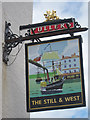 SZ6299 : The Still & West sign by Oast House Archive
