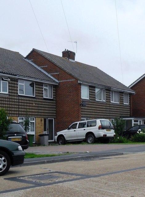 Unusual tiling, Wilton Avenue, Eastbourne