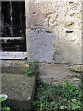 SK9485 : Cut bench mark on Fillingham St Andrew's church by Brian Westlake