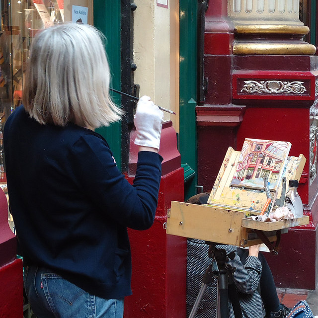 Painting Leadenhall Market