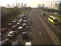 TQ3978 : Diverted traffic on the Blackwall Tunnel approach by Stephen Craven