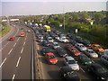 TQ3978 : Queuing traffic on the Blackwall Tunnel approach by Stephen Craven