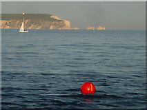 SZ1891 : Mudeford: harbour entrance marker buoy by Chris Downer