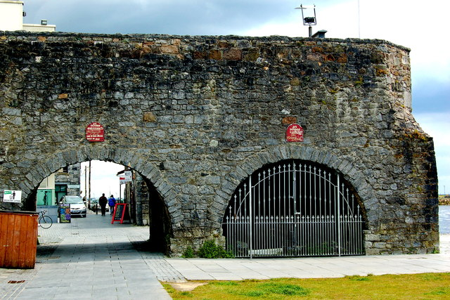 Galway - Medieval Wall & Spanish Arch - NW Side