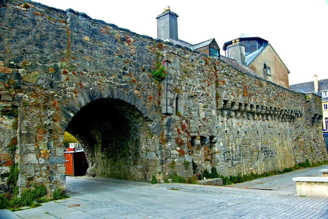 Galway - Spanish Arch & Medieval Wall - SE Side