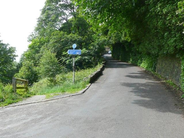 Millennium signpost, Hollins Mill Lane