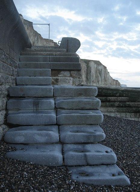 Steps to the Beach by Simon Carey