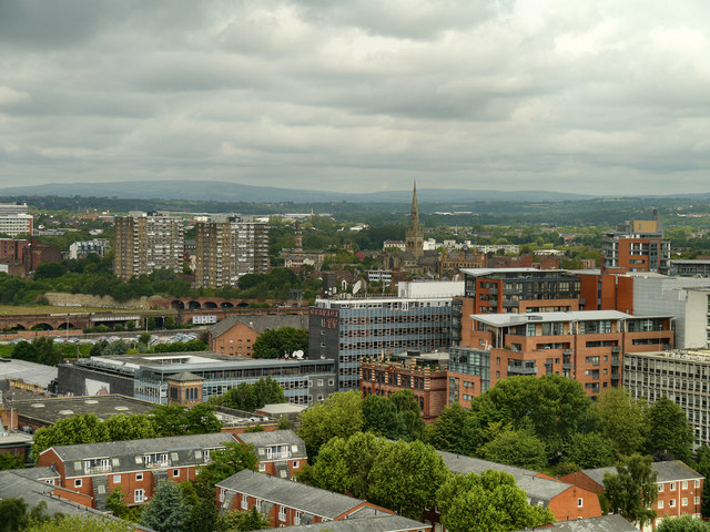 View from the Beetham Tower, Towards Salford