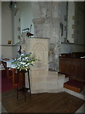 NZ0772 : The Parish Church of St Mary the Virgin, Stamfordham, Pulpit by Alexander P Kapp