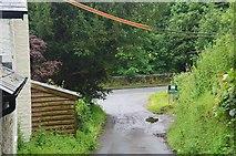 SO2956 : Lane meeting the A44, Kington by Jim Barton