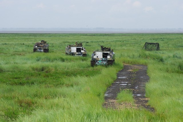 APCs in the marsh