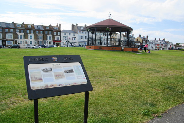 Bandstand on the green at Walmer
