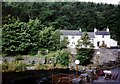 SD3584 : Cottages beside the River Leven in 1992 by Ruth Riddle