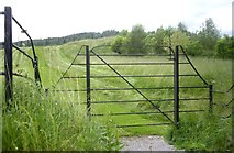 NO2694 : Gated access to Balmoral private golf course by Stanley Howe