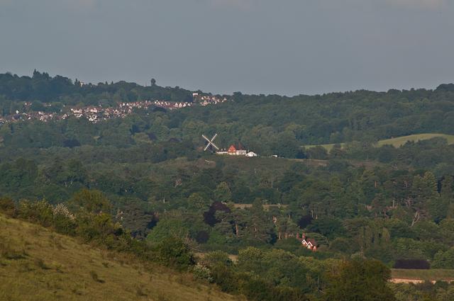 Reigate Heath Windmill from Box Hill