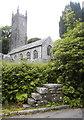 SX2281 : Mounting block beside St Nonna's Church, Altarnun by Bill Harrison