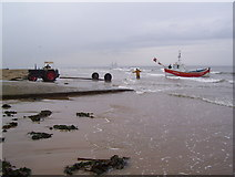 NZ6025 : Coble at Redcar slipway by Martin Speck