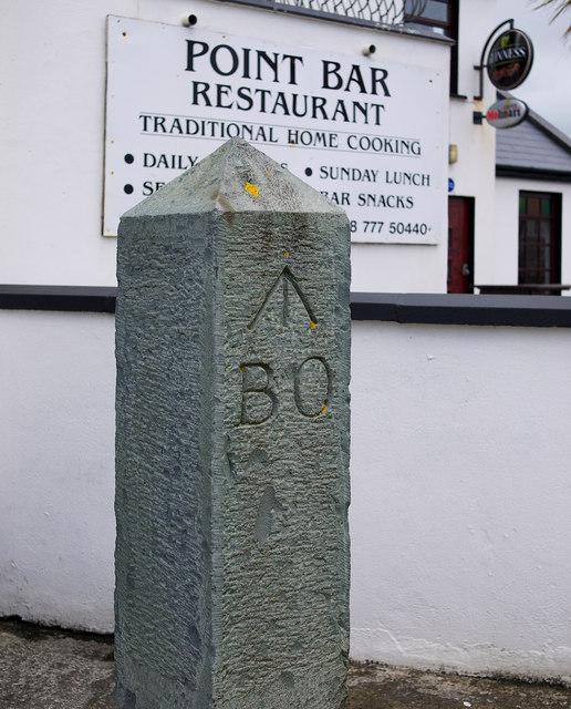 Ordnance boundary stone, Magilligan