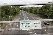 SU5894 : Plaque on the bridge by Bill Nicholls