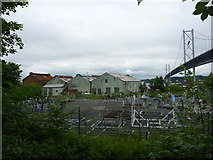 NT1278 : South Queensferry Townscape : Corrugated Iron Buildings at Port Edgar by Richard West