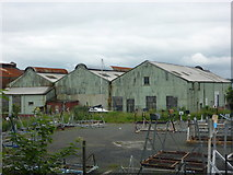 NT1278 : South Queensferry Townscape : Corrugated Iron Sheds at Port Edgar by Richard West