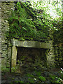 NY5705 : Stone fireplace, abandoned farmhouse at Bretherdale Head by Karl and Ali
